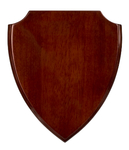 8 1/8 x 9 3/4 Rosewood Piano Finish Shield Plaque