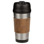 16 oz. Laserable Leatherette Stainless Steel Travel Mug